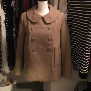 H&M wool blend tan coat